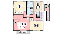 ハイムエルピスIII[2階]の間取り