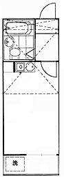 コーポマリーナ上野毛[2階]の間取り