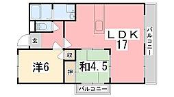 ルークレジデンス姫路II[304号室]の間取り