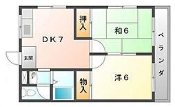 永本マンション[3階]の間取り