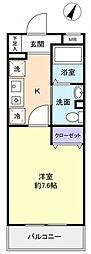 サンハイム久保田[1階]の間取り