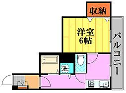 第3シモビル[601号室]の間取り