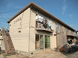 岡山県岡山市中区国富3丁目の賃貸アパートの外観