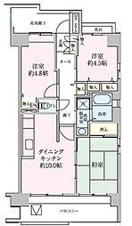 コーポレート川口栄町[6階]の間取り