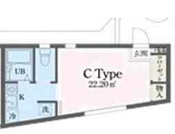 アッパルタメントフルビアーレ[1階]の間取り