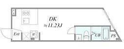 JR京浜東北・根岸線 川崎駅 徒歩8分の賃貸マンション 1階1DKの間取り