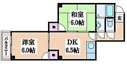 ゴールドマンションII[7階]の間取り