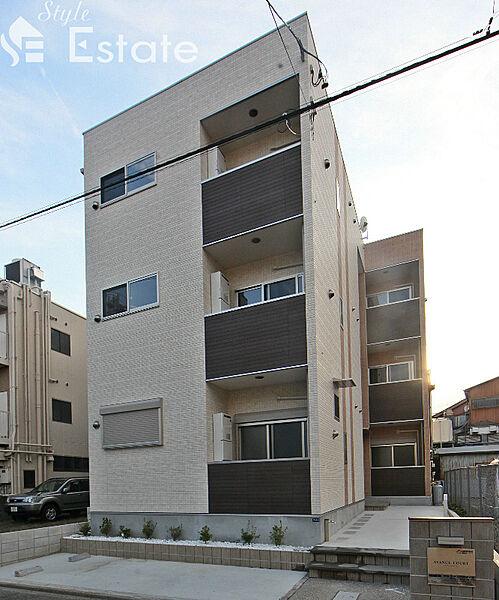 愛知県名古屋市中川区八熊2丁目の賃貸アパートの外観