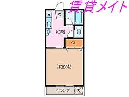 三重県伊勢市中之町の賃貸アパートの間取り
