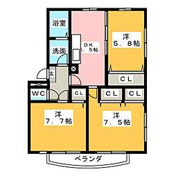 ソレイユ10[3階]の間取り