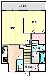 ラ・フォーレ駒川[6階]の間取り