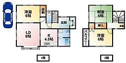 [一戸建] 千葉県東金市田間 の賃貸【/】の間取り