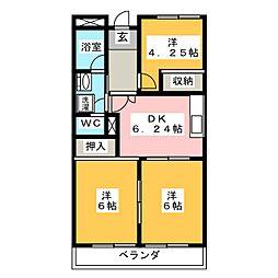 CASAセフィーロ[2階]の間取り