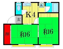 TKコーポ[1階]の間取り