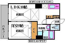 ノルデンタワー新大阪プレミアム 11階1LDKの間取り