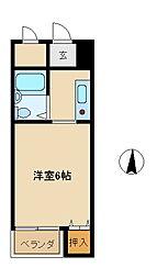 兵庫県尼崎市西立花町1丁目の賃貸マンションの間取り