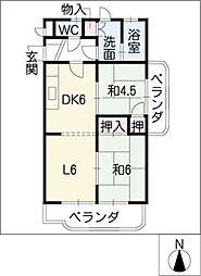 グリーンハイツ新栄[2階]の間取り