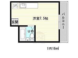 大阪府吹田市泉町3丁目の賃貸アパートの間取り