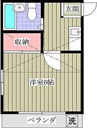埼玉県春日部市粕壁東3丁目の賃貸アパートの間取り