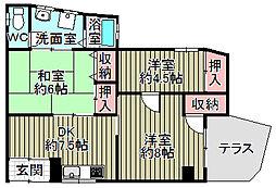 [テラスハウス] 兵庫県尼崎市今福2丁目 の賃貸【/】の間取り