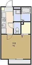 埼玉県さいたま市大宮区吉敷町3丁目の賃貸アパートの間取り
