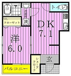 シルキーパレス[1階]の間取り
