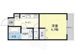 viola mitaka 3階1Kの間取り