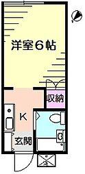 サニーウィング[2階]の間取り
