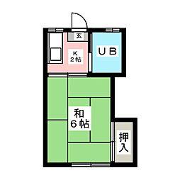 第二鈴和荘[1階]の間取り