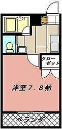 ヨークス本城[303号室]の間取り