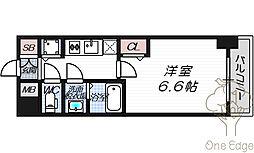 プレサンス天神橋ラ・デュアル[10階]の間取り
