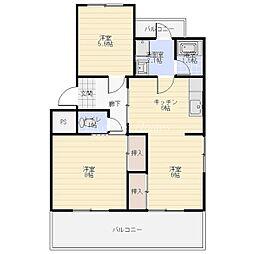 ハイツ福寿園 1[1階]の間取り