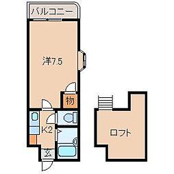 プルミエールメゾンクロダ[4階]の間取り