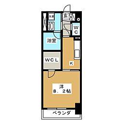 静岡七間町エンブルコート[6階]の間取り