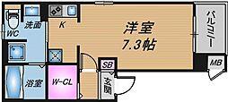 大阪府大阪市北区大淀中3丁目の賃貸アパートの間取り