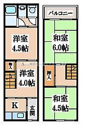 [テラスハウス] 大阪府東大阪市宝持4丁目 の賃貸【/】の間取り