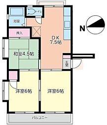 ミントハウス[301号室]の間取り