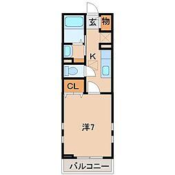 和歌山県和歌山市吹屋町3丁目の賃貸アパートの間取り