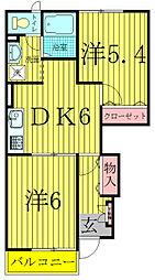 カーサボニートI[1階]の間取り