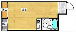 ライフステージ花園[4階]の間取り