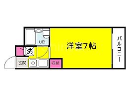 大阪府堺市中区深井水池町の賃貸マンションの間取り