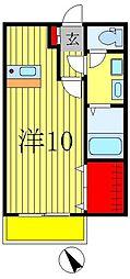千葉県松戸市常盤平西窪町の賃貸マンションの間取り