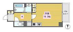 レジェンドール心斎橋東[7階]の間取り