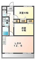 愛知県日進市浅田平子3丁目の賃貸マンションの間取り