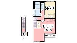 ソレイユ元宮I[2階]の間取り