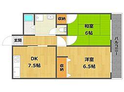 メゾン三宅2[2階]の間取り
