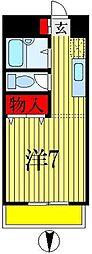エステートピアクレスト[3階]の間取り