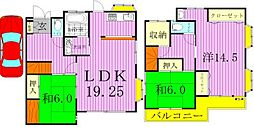 [一戸建] 千葉県柏市亀甲台町1丁目 の賃貸【/】の間取り