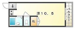 フォーラムハッコウ[3階]の間取り