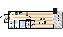 Osaka Metro谷町線 平野駅 徒歩3分の賃貸マンション 2階1Kの間取り